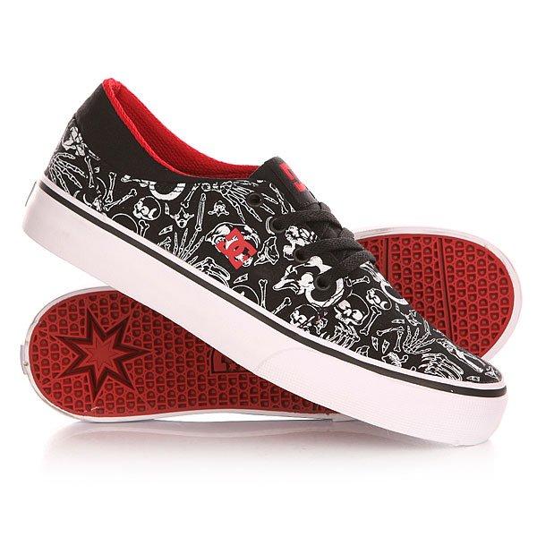 Кеды кроссовки низкие детские DC Trase Sp Black/Red Print