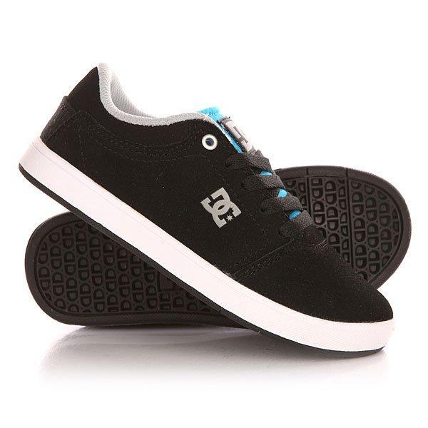 Кеды кроссовки низкие детские DC Crisis B Shoe Black/Orange/Blue кроссовки dc ryan villopoto shoe black camo