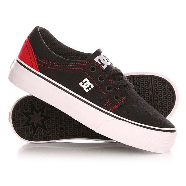 Кеды кроссовки низкие детские DC Trase Tx Black/Red