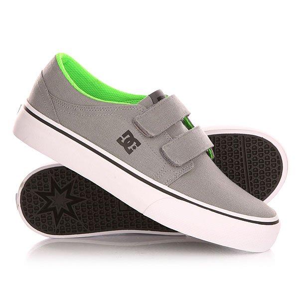 Кеды кроссовки низкие детские DC Trase V Grey/Black/Green