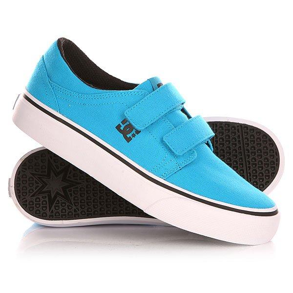 Кеды кроссовки низкие детские DC Trase V Bright Blue кеды кроссовки низкие детские dc pure v ii black multi