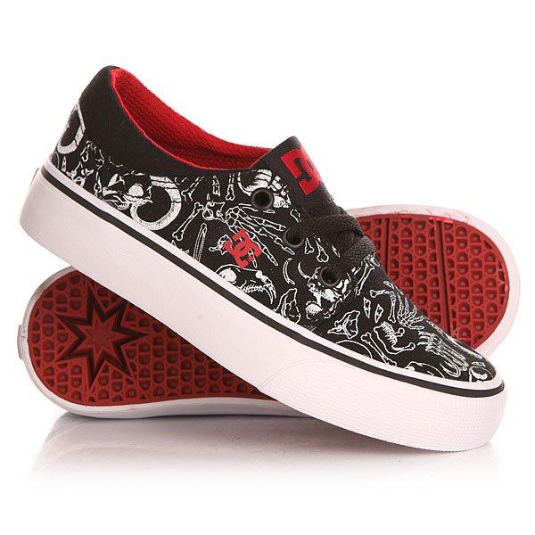Кеды кроссовки низкие детские DC Trase Sp Black/Red/White Print