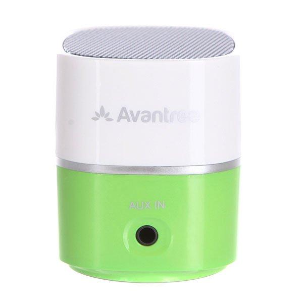 Колонка портативная Pluto Air Avantree BTSP-TR401-WGRБеспроводной мини-динамик с высоким качеством исполнения музыки в компактном дизайне.Технические характеристики: Пластиковый корпус.Подключение к мобильному телефону и ноутбуку по беспроводной сети  Bluetooth V2.1.Подключение через аудио кабель диаметром 3,5 мм.Совместим с MP3, MP4 и CD-плеером.USB кабель для зарядки.Улучшенное чистое звучание.Аккумуляторная батарея на 6-8 часов работы.Рабочий диапазон 10 метров.Выходная мощность 2.2 Вт.Встроенная аккумуляторная батарея 400 мА/ч.Время зарядки аккумулятора 1,5 часа.Сумка для переноски.<br><br>Цвет: зеленый,белый<br>Тип: Колонка
