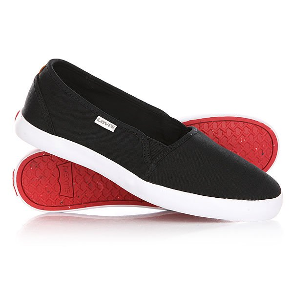Слипоны женские Levis Palmdale Slip On Regular Black levis 501 по интернету