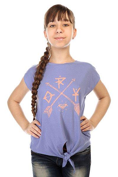 Футболка детская Roxy Rock Tees Chambray<br><br>Цвет: синий<br>Тип: Футболка<br>Возраст: Детский