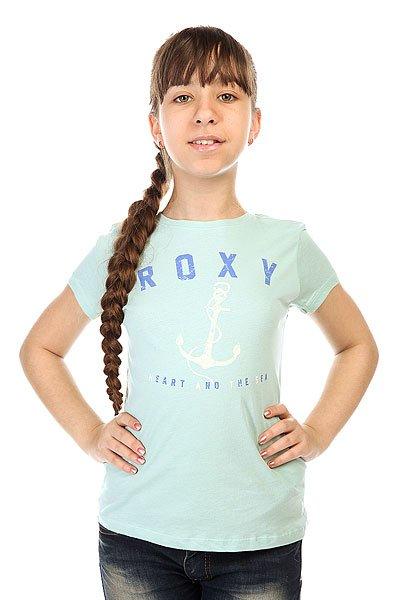 Футболка детская Roxy Rgcrewanchor Tees Harbor Gray<br><br>Цвет: голубой<br>Тип: Футболка<br>Возраст: Детский