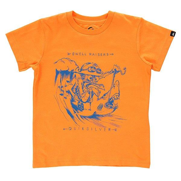 Футболка детская Quiksilver Seagull Raiser Tees Orange Pop