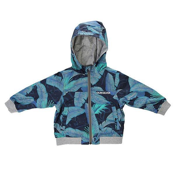 Куртка детская Quiksilver Riot Jacket Boy K Jckt Riot Navy BlazerДемисезонная куртка Quiksilver выполнена из быстросохнущего материала.Характеристики:Два боковых кармана. Эластичные манжеты и подол.Эластичные манжеты. Фиксированный капюшон. Застежка - молния.<br><br>Цвет: серый,синий<br>Тип: Куртка<br>Возраст: Детский