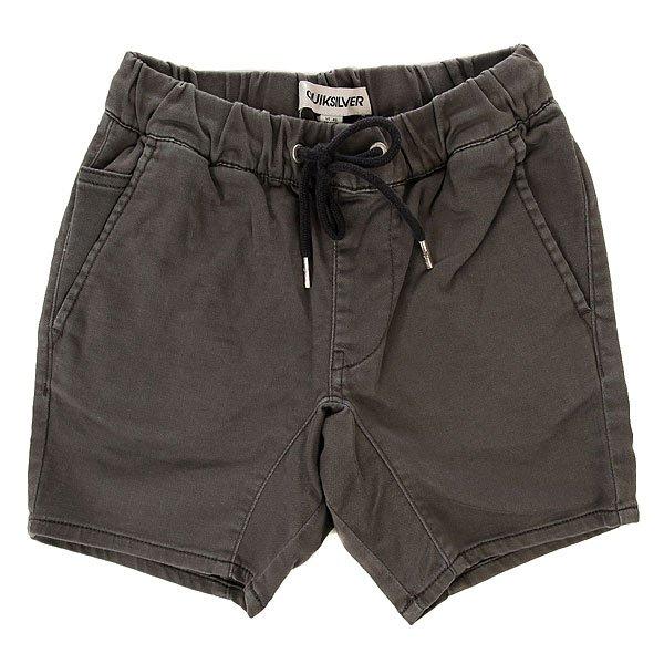Шорты классические детские Quiksilver Fonic Short You Dark Shadow<br><br>Цвет: серый<br>Тип: Шорты классические<br>Возраст: Детский