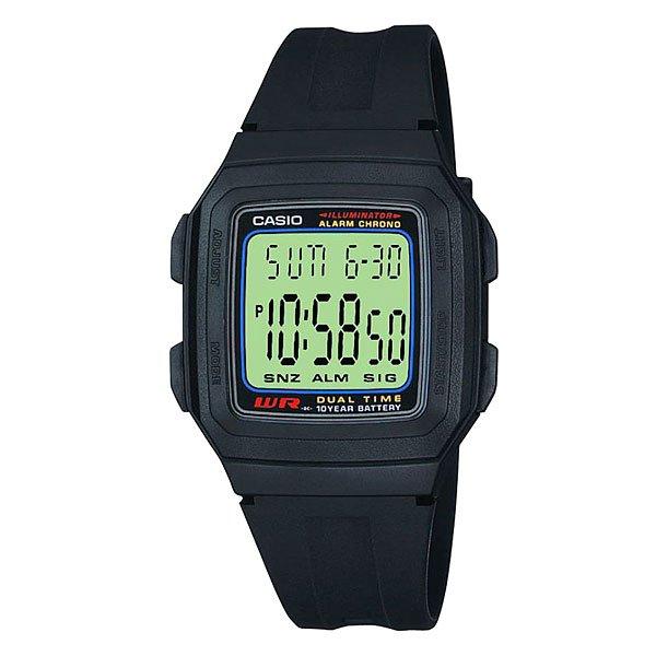 Электронные часы Casio Collection F-201W-1ACasio Collection F-201W-1A - это кварцевые мужские часы. Данная модель оснащена функцией будильника и секундомера, а также является водонепроницаемой, что позволяет не снимать часы во время плавания. Характеристики:Материал корпуса / безеля: полимер (пластик). Полимерный браслет (пластик). LED подсветка.Послесвечение. Двойное время. 1/100 секундомер. Измерительная модель: 23:59'59,99». Измерительные модели: прошедшее время, сплит-тайм, время первого и второго места. Таймер обратного отсчета времени. Входной диапазон данных: от 1 минуты до 24 часов (1-минутное возрастание и 1-часовое возрастание). 5 независимых многофункциональных будильников (4 в определенное время и 1 с режимом «дремать»). Ежечасное сигнальное оповещение. Полный автоматический календарь (до 2099). 12/24 часовой форматы отображения времени. Обычное измерение времени: часы, минуты, секунды, pm, месяц, дата, день. Точность: ±30 секунд в месяц.Продолжительность работы элементов питания: 10 лет на CR2025.<br><br>Цвет: черный<br>Тип: Электронные часы<br>Возраст: Взрослый<br>Пол: Мужской