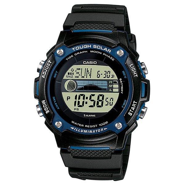 Электронные часы Casio Collection W-S210H-1AПростые и удобные в использовании часы на каждый день.Характеристики:Питание от солнечной энергии, индикатор уровня заряда батареи. Циферблат подсвечивается светодиодом. Функция автоматического сохранения энергии. Время работы аккумулятора без подзарядки - 11 месяцев, при включенной функции сохранения энергии - 29 месяцев. Отображение возраста ифазы Луны. Графическое отображение сведений о приливах и отливах.Мировое время.12-ти и 24-х часовой форматвремени.Секундомер с точностью показаний 1/100с и временем измерения 24ч.Сплит-хронограф.Таймеробратного отсчета от 1мин до 24ч. Функция включения/отключения звука.Ежечасный сигнал и 3 ежедневных будильников, один с функцией автоповтора через несколько минут «snooze». Отображение времени в 29 различных часовых поясах с обозначением 30 основных городов в этих зонах.Автоматический календарь не требует дополнительных настроек до 2099 года и показывает дату, день недели и месяц. Корпус выполнен из полимерного материала. Стекло из полимерного материала, устойчивое к ударному воздействию, имеет сферическую форму. Полимерный ремешок прочный и долговечный с простой застежкой.<br><br>Цвет: черный,синий<br>Тип: Электронные часы<br>Возраст: Взрослый<br>Пол: Мужской