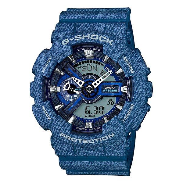 Электронные часы Casio G-Shock GA-110DC-2AМужские наручные часы Casio G-Shock GA-110CB-1A. Часы наручные серии Casio G-Shock G-Shock - ударопрочная конструкция защищает от ударов и вибрации.Характеристики:Экран: стрелки + электроника. Корпус: пластик. Ремешок: резиновый (каучуковый). Стекло: минеральное. Светодиодная автоподсветка. Будильник: 5 независимых будильников + возможность ежечасного сигнала + функция будильник с повтором через несколько минут.Секундомер с точностью до 1/1000 секунды. Таймер обратного отсчета с функцией повтора. Режим Мирового времени: Обеспечивает отображение текущего времени в некоторых городах и определенных регионах мира. Полностью автоматический календарь. 12- и 24-часовой формат времени.<br><br>Цвет: голубой<br>Тип: Электронные часы<br>Возраст: Взрослый<br>Пол: Мужской