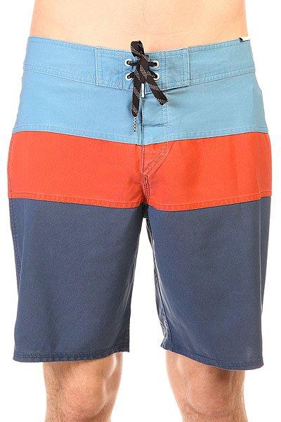 Шорты пляжные Quiksilver Classic Panel Dark Denim<br><br>Цвет: синий,оранжевый,голубой<br>Тип: Шорты пляжные<br>Возраст: Взрослый<br>Пол: Мужской