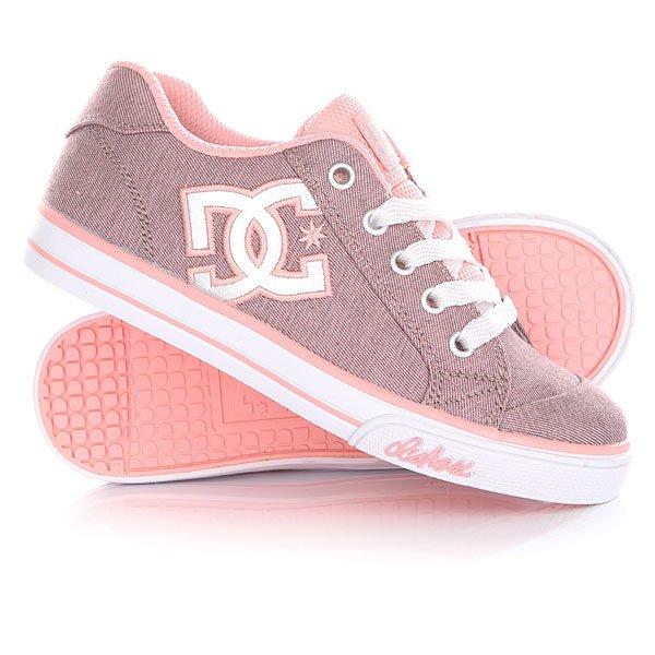 Кеды низкие детские DC Chelsea Tx Se Pink/White
