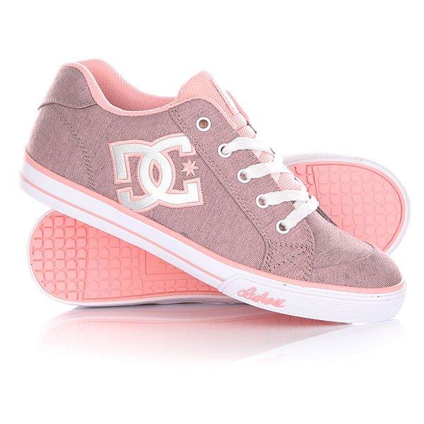 Кеды кроссовки низкие детские DC Chelsea Tx Se Pink With Silver