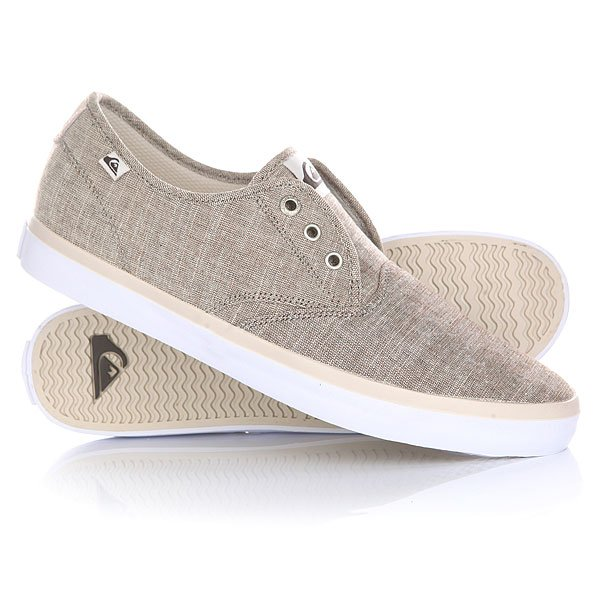 Кеды кроссовки низкие Quiksilver Shorebreak Deluxe Grey/White/Grey