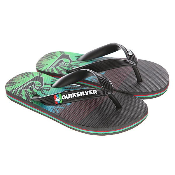 Вьетнамки детские Quiksilver Molokai Ag47 Black/Red/Green