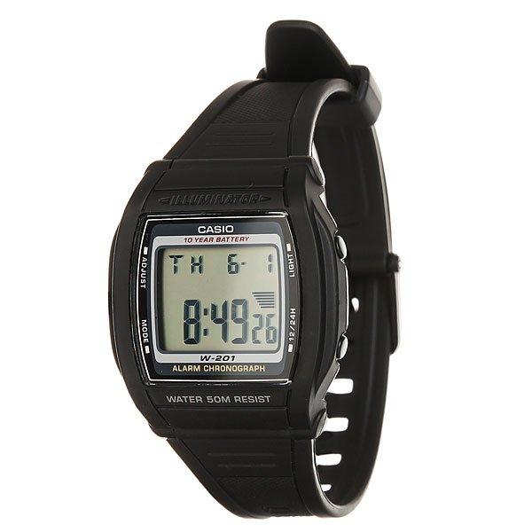 Электронные часы Casio Collection W-202-1AПростые и удобные в использовании часы на каждый день в популярном ретро-стиле.Характеристики:LCD циферблат подсвечивается светодиодом.Секундомер с двумя точностями показаний: 1/100с (до 1ч) и 1с (после 1ч) и временем измерения 24ч.Таймеробратного отсчета от 1мин до 24ч с автоповтором.12-ти и 24-х часовой форматвремени. Типы сигналов: ежедневный, ежемесячный, каждый день определенного месяца, на определенную дату. Световая индикация сигнала. Раскладывающаяся застежка, расстегиваемая одним касанием.Пластиковое стекло и корпус.<br><br>Цвет: черный<br>Тип: Электронные часы<br>Возраст: Взрослый<br>Пол: Мужской