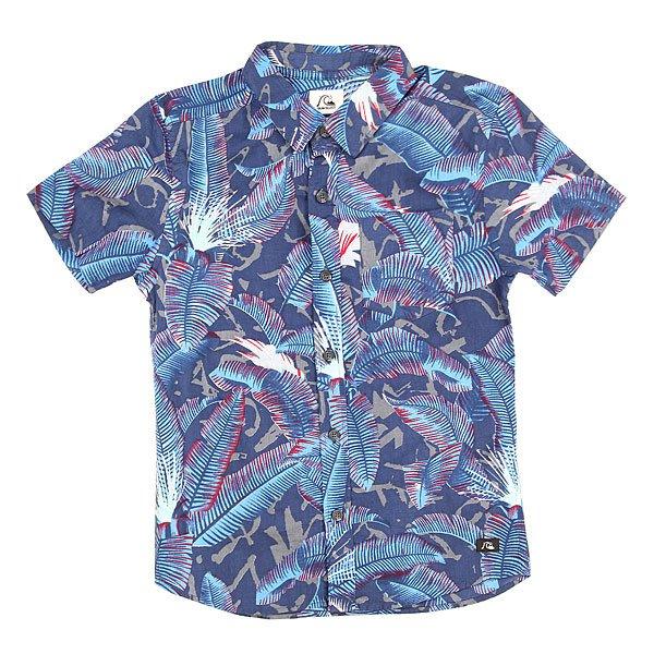 Рубашка детская Quiksilver Riot Riot Dark Denim<br><br>Цвет: синий<br>Тип: Рубашка<br>Возраст: Детский