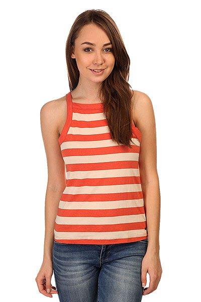 Майка женская Roxy Volcano Classic Stripe Chili<br><br>Цвет: бежевый,оранжевый<br>Тип: Майка<br>Возраст: Взрослый<br>Пол: Женский