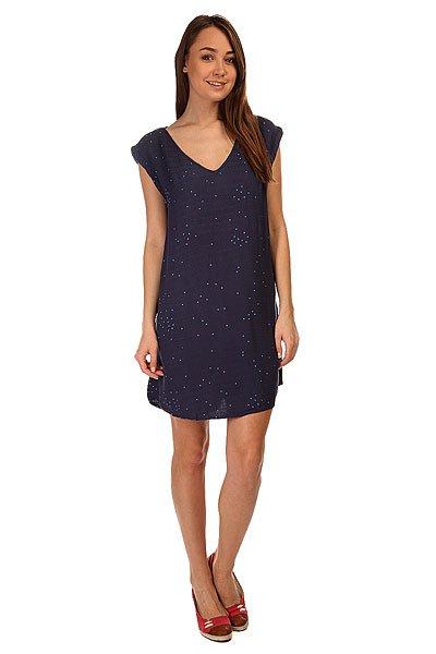Платье женское Roxy Foot Random Dots Combo Ec<br><br>Цвет: синий<br>Тип: Платье<br>Возраст: Взрослый<br>Пол: Женский