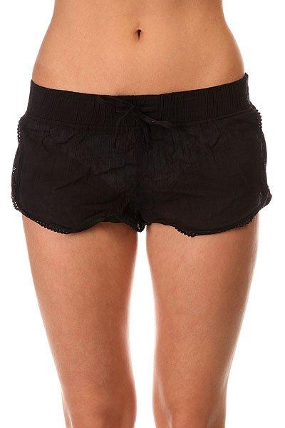 Шорты классические женские Roxy Soft Crochet Sh True Black<br><br>Цвет: черный<br>Тип: Шорты классические<br>Возраст: Взрослый<br>Пол: Женский