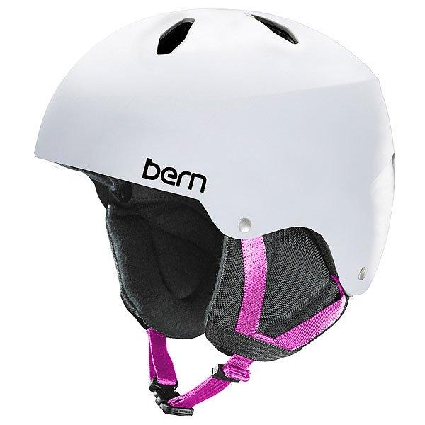 Шлем для сноуборда детский Bern Snow EPS Diabla Satin White/Black LinerBE-SG04ESWHT22Diabla - надежный подростковый шлем в линейке шлемов от Bern. Рассчитан на возраст от 8 до 15 лет. В комплекте идет зимний внутренник.Технические характеристики: Пена EPS - наполнитель, сохраняющий свои свойства после множества ударов.Внешняя оболочка из тонкого прочного пластика ABS.Ультра тонкий корпус Thin Shell специально разработан для пены EPS, предназначен для защиты от сильных ударов.Съемный зимний вкладыш EPS.Мягкие амбушюры.Соответствует стандартам CPSC и EN 1078 (велосипед и ролики), ASTM F 2040 и EN 1077B (зимние виды спорта).Пассивная система вентиляции поддерживает постоянную циркуляцию воздуха.Логотип Bern.<br><br>Цвет: белый<br>Тип: Шлем для сноуборда<br>Возраст: Детский