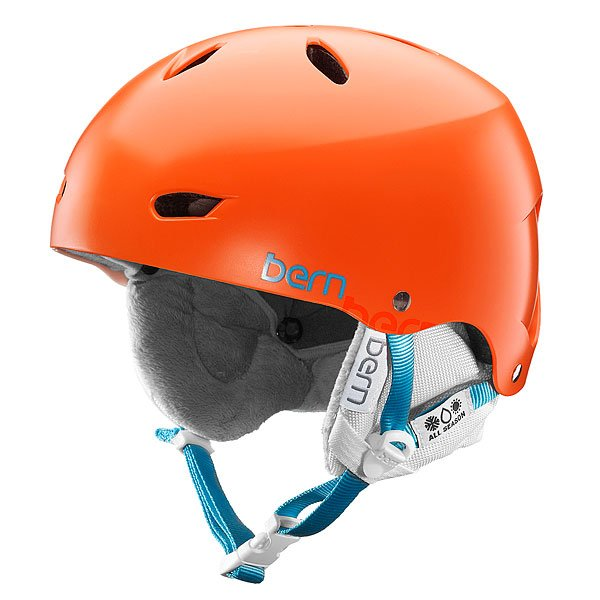 Шлем для сноуборда женский Bern Snow EPS Brighton Satin Orange/White Liner