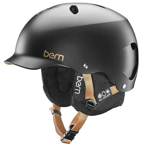 Шлем для сноуборда женский Bern Snow EPS Lenox Satin Black/Black Liner