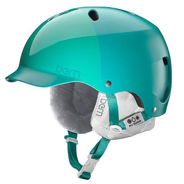 Шлем для сноуборда женский Bern Snow EPS Lenox Satin Emerald Hatstyle/White Liner