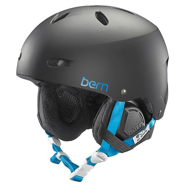 Шлем для сноуборда женский Bern Snow EPS Brighton With Audio Matte Black/Black Liner