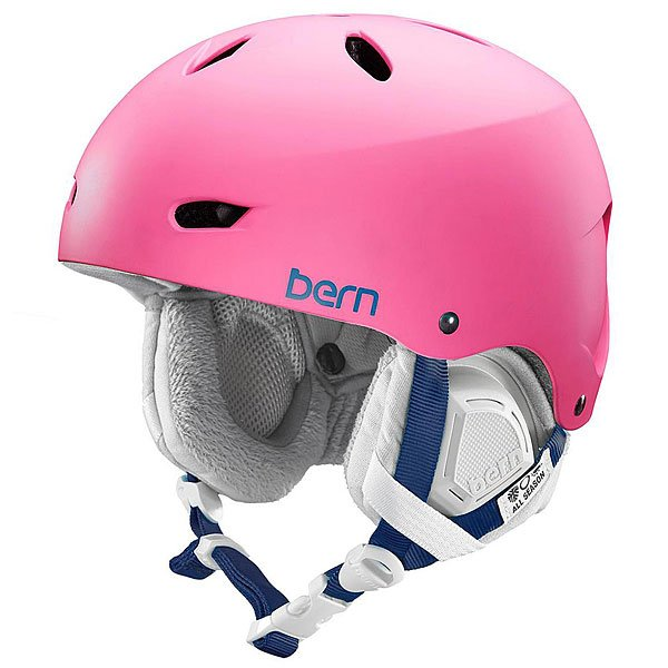 Шлем для сноуборда женский Bern Snow EPS Brighton Matte Bubblegum Pink/Grey Liner