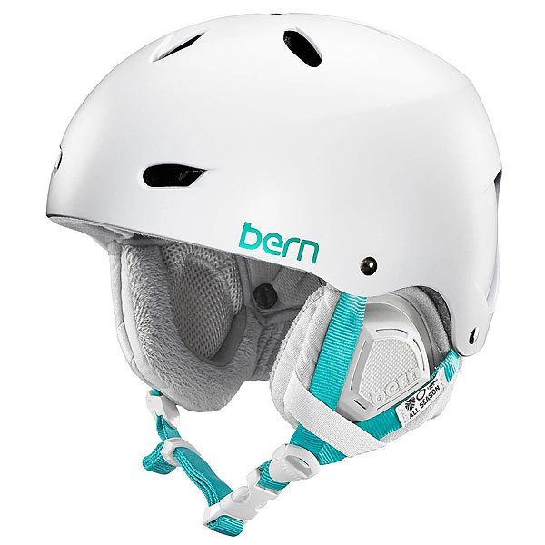 Шлем для сноуборда женский Bern Snow EPS Brighton Satin White/Grey Liner