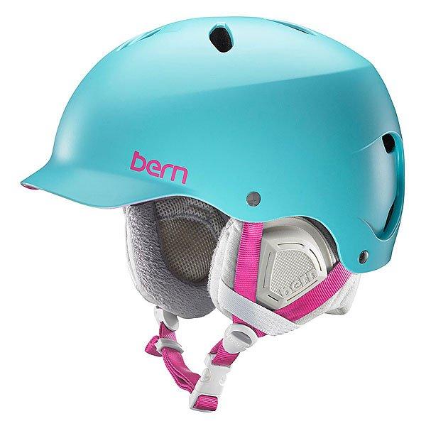 Шлем для сноуборда женский Bern Snow EPS Lenox Satin Aqua/Grey LinerBE-SW05ESAQU11Оригинальный шлем с козырьком, который обеспечит надежную и комфортную защиту на доске, велосипеде или на лыжах. Где бы Вы ни были, Lenox отлично справится с поставленной задачей.Технические характеристики: Внешняя оболочка из тонкого прочного пластика ABS с подкладкой из пены EPS.Пена EPS - наполнитель, сохраняющий свои свойства после множества ударов.Мягкая трикотажная подкладка.Мягкие амбушюры.Ультра тонкий корпус Thin Shell специально разработан для пены EPS, предназначен для защиты от сильных ударов.Соответствует стандартам CPSC и EN 1078 (велосипед и ролики), ASTM F 2040 и EN 1077B (зимние виды спорта).Встроенный аудио-комплект.Логотип Bern.<br><br>Цвет: голубой<br>Тип: Шлем для сноуборда<br>Возраст: Взрослый<br>Пол: Женский