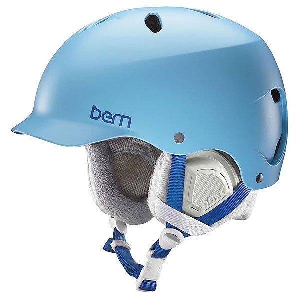 Шлем для сноуборда женский Bern Snow EPS Lenox Satin Light Blue/Grey Liner