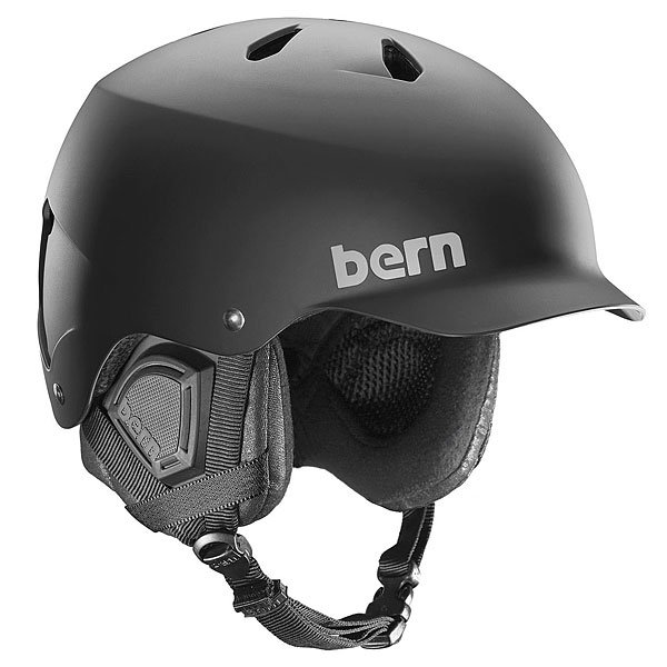���� ��� ��������� Bern Snow EPS Watts With Audio Matte Black/Black Liner