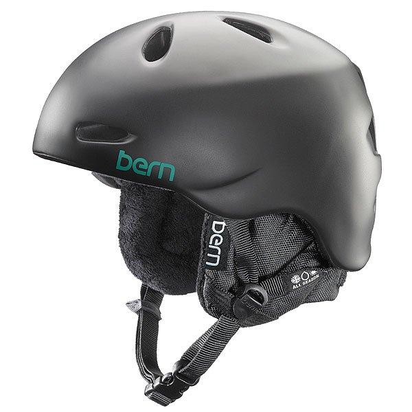 Шлем для сноуборда женский Bern Snow Zipmold Berkeley Satin Black/Black Liner