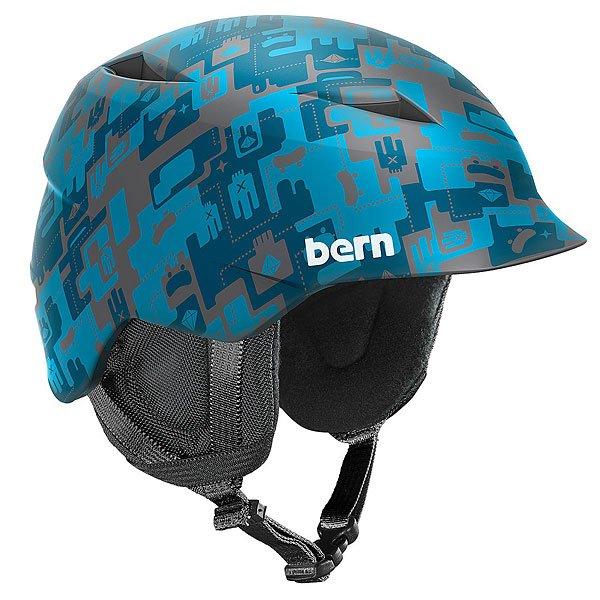 Шлем для сноуборда детский Bern Snow Zipmold Camino Matte Blue Camo Print/Black LinerBE-SB02ZMBLC21Шлем Camino предназначен для надежной защиты головы ребенка в течение всего зимнего сезона. Технология Zipmold позволяет создать комфортный шлем обтекаемой формы с отличным соотношением прочности и веса.Технические характеристики: Поликарбонатная оболочка с жестким Zip Mold пенопластом.Zipmold® - запатентованный наполнитель который образует единую спаянную между собой внутреннюю и внешнюю защитную часть шлема, благодаря которому достигается оптимальный баланс защитных свойств и веса шлема.Регулируемый ремешок.Козырек.Соответствует стандартам CPSC (велосипед и ролики), ASTM F 2040, EN1078 (зимние виды спорта).Контрастный принт и логотип Bern.<br><br>Цвет: серый,голубой,синий<br>Тип: Шлем для сноуборда<br>Возраст: Детский