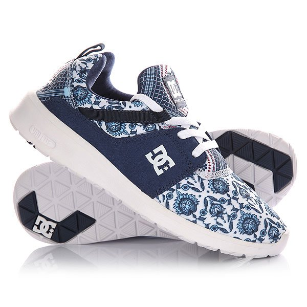 Кроссовки женские DC Heathrow Se Blue Print dc shoes кеды dc heathrow 8
