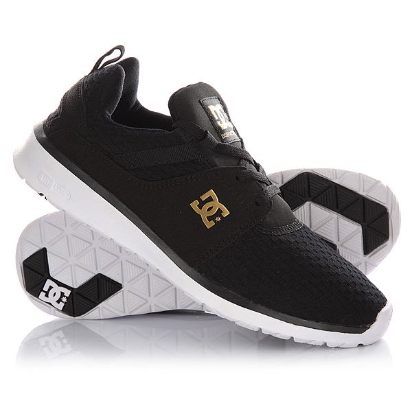 Кроссовки женские DC Heathrow Se Black/Gold dc shoes кеды dc heathrow 8