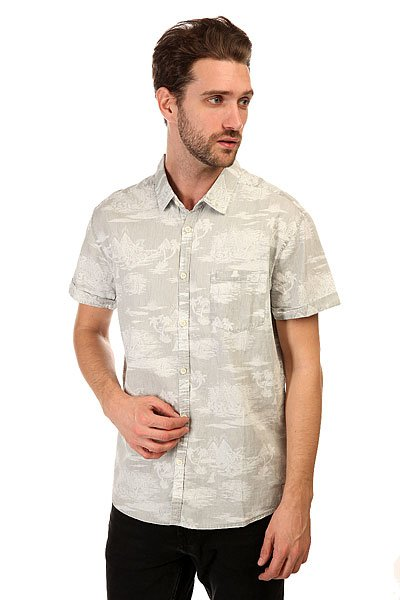 Рубашка Quiksilver Pyramid Point S Pyramid Point Shirt Sandy White
