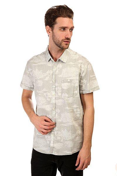 Рубашка Quiksilver Pyramid Point S Pyramid Point Shirt Sandy WhiteЛегкая хлопковая рубашка — отличный вариант даже для самых жарких дней. Благодаря сдержанному дизайну, Вы смело можете сочетать эту рубашку практически с любым повседневным гардеробом.Характеристики:Короткий рукав. Нагрудный карман. Фирменный ярлычок на кармане.<br><br>Цвет: серый<br>Тип: Рубашка<br>Возраст: Взрослый<br>Пол: Мужской