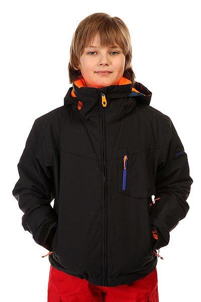 Куртка детская Quiksilver Mission Plus BlackСноубордическая куртка Mission Plus для мальчиков из новой сноубордической коллекции Quiksilver.Технические характеристики: Мембрана Dry Flight предназначена для того, чтобы вы оставались в сухости и тепле и были защищены от перегревания; так можно проводить на свежем воздухе максимум времени с максимальным комфортом.Технология тепла Warm Flight гарантирует теплый уют даже в условиях откровенного ненастья.Подкладка - тафта.Защита подбородка от натирания молнией из микрофибры.Критические швы проклеены.Высокий воротник - стойка.Съемный капюшон.Регулируемые манжеты на липучках.Внутренние эластичные манжеты из лайкры.Нагрудный карман.Карман для ски-пасса.Медиа карман.Карман для маски.Карманы для рук на молнии.Сеточная вентиляция.Фиксированная снежная юбка из синтетической тафты.Застежка на молнии.Подол с регулировкой.Логотип Quiksilver на рукаве.<br><br>Цвет: черный<br>Тип: Куртка утепленная<br>Возраст: Детский