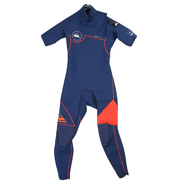 Гидрокостюм (Комбинезон) детский Quiksilver 2/2mm Ag47 Zipless  Ink Blue/ Orange<br><br>Цвет: синий<br>Тип: Гидрокостюм (Комбинезон)<br>Возраст: Детский