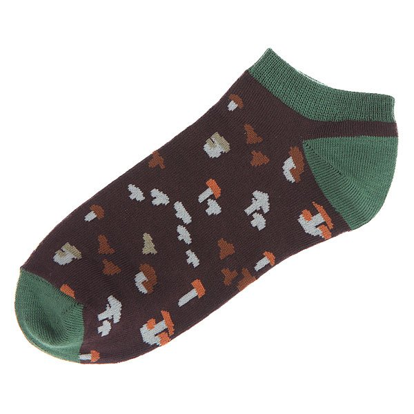 Носки низкие женские Запорожец Грибочки Черный