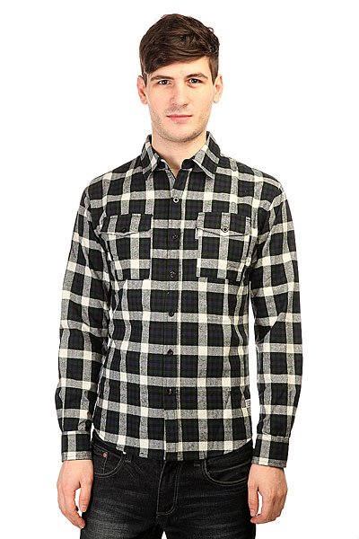 Рубашка в клетку Anteater Flshirt Black