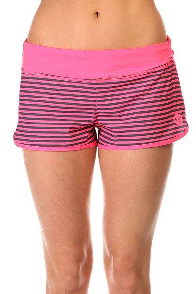 Шорты пляжные женские Roxy Endless Sum2 Pop Pink Stripes Com пляжные женские шорты цена