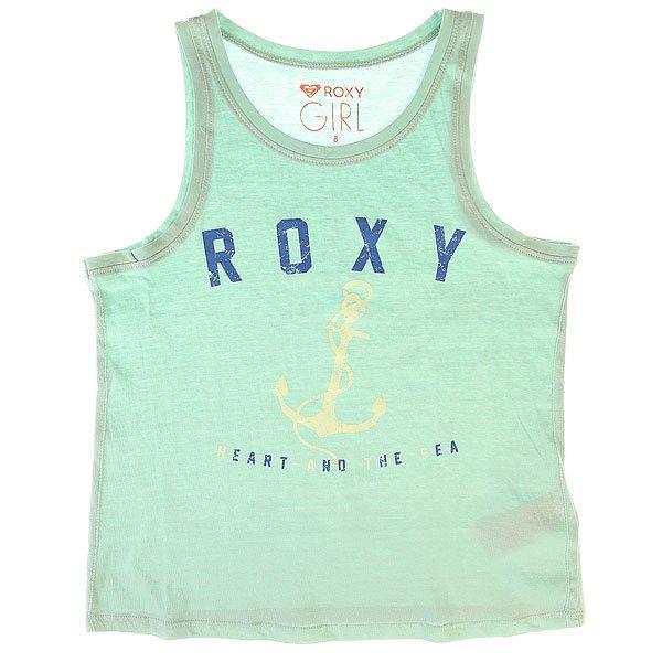 Майка детская Roxy Tank Anchor Harbor GrayМайка для девочек Basic Anchor от ROXY.Технические характеристики: Мягкий натуральный трикотаж.Воротник с круглым вырезом.Тонкие лямки.Декоративный принт с изображением якоря на груди.Логотип  ROXY.<br><br>Цвет: голубой<br>Тип: Майка<br>Возраст: Детский