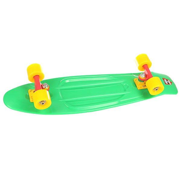 Скейт мини круизер Union Frog Green 7.5 x 28 (71.1 см)Пластборд Юнион(Union) - это пластиковый скейтборд-круизер с загнутым хвостом для передвижения по городу и трюкачества. Очень прочная дека, качественные подвески, подшипники и колеса сделают вашу езду плавной и комфортной. Технические характеристики: Дека из прочного полиуретана повышенной прочности и эластичности. Подвески изалюминия. Бушинги Union 89А. Подшипники -Union Water Prof Abec7 (водонепроницаемаяконструкция). Колеса - круизного типа Union Virage диаметром 59 мм с стандартной мягкостью 83А. Нестирающееся цепкое покрытие. Различные расцветки в ассортименте.<br><br>Цвет: зеленый<br>Тип: Скейт мини круизер<br>Возраст: Взрослый<br>Пол: Мужской