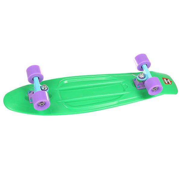 Скейт мини круизер Пластборд Grass Green 7.5 x 28 (71.1 см)Пластборд Юнион(Union) - это пластиковый скейтборд-круизер с загнутым хвостом для передвижения по городу и трюкачества. Очень прочная дека, качественные подвески, подшипники и колеса сделают вашу езду плавной и комфортной. Технические характеристики: Дека из прочного полиуретана повышенной прочности и эластичности. Подвески изалюминия. Бушинги Union 89А. Подшипники -Union Water Prof Abec7 (водонепроницаемаяконструкция). Колеса - круизного типа Union Virage диаметром 59 мм с стандартной мягкостью 83А. Нестирающееся цепкое покрытие. Различные расцветки в ассортименте.<br><br>Цвет: зеленый<br>Тип: Скейт мини круизер